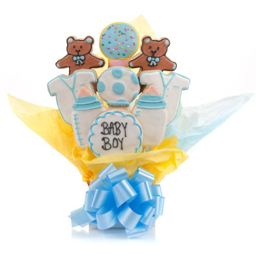 It's A Boy! Cookie Bouquet- 9 Pc Bouquet ()