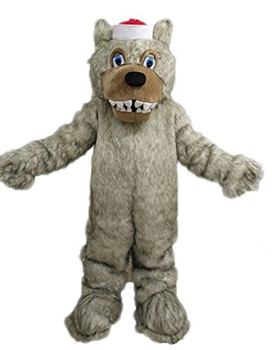 Adult Size North Carolina Mascot Wolf Mascot Costume for Sports Team Animal Mascots for College]()
