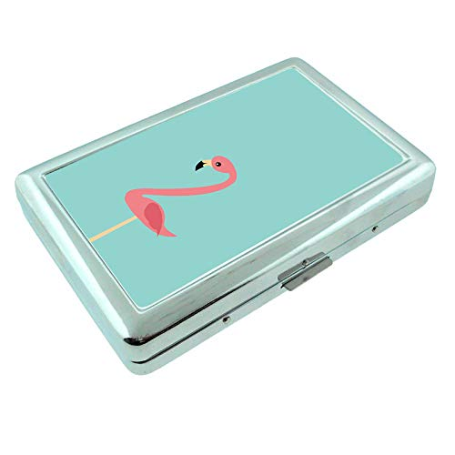 (Flamingo Em3 Hip Silver Cigarette Case Id Holder Metal Wallet 4