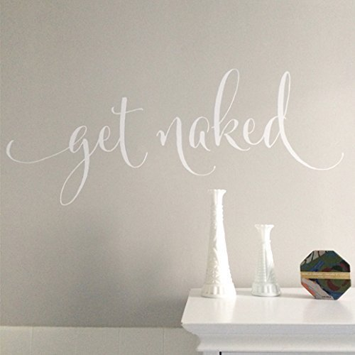 - Get Naked Vinyl Wall Decal by Wild Eyes Signs, Bathroom Shower door, Bathroom wall decor, Wall Decal, Powder room, bathroom decor, HH2106
