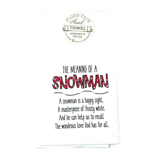 The Meaning Of A Snowman Polka Dot Red White 22 x 18 Cotton Decorative Flour Sack (Polka Dot Flour Sack Towels)