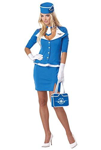 california-costumes-womens-retro-stewardess-adult-blue-medium