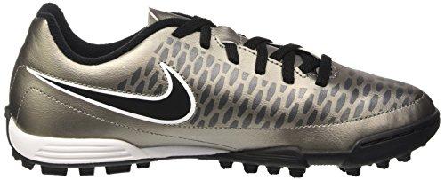 Nike Jr Magista Ola Tf, Zapatillas de Deporte para Niñas Dorado / Negro / Blanco (Mtlc Pewter / Black-White)
