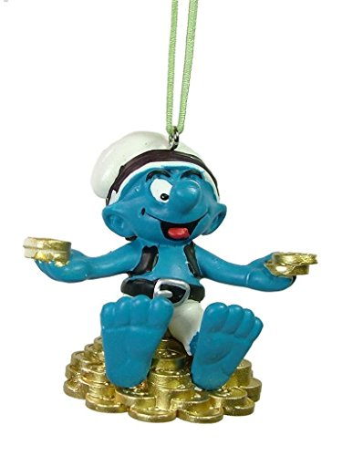 New Pirate Smurf Treasure Hunter Sea Ocean Boat Piracy Christmas Tree Ornament (Ornament Christmas Smurf)