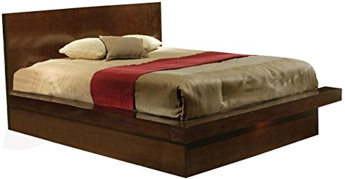 - Coaster Jessica Collection 200711KE Eastern King Size Platform Bed with Solid Wood and Select Veneers in Light Cappuccino