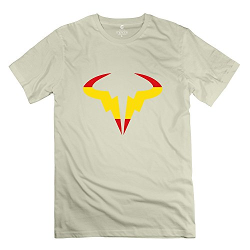 Price comparison product image XY-TEE Men's T Shirt Rafael Nadal Pro Tennis Player Natural Size XS
