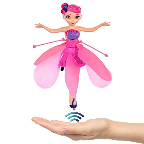 Strivy Flying Fairy Doll RC infrared Induction Helicopter kids toys Teen toys Flying Princess Doll (Flying Fairy) (Fairy Doll Pink)