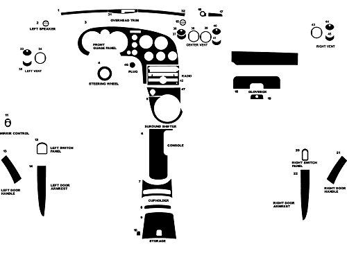 Rdash Dash Kit Decal Trim for Pontiac Solstice 2006-2009 - Carbon Fiber 4D (Black)