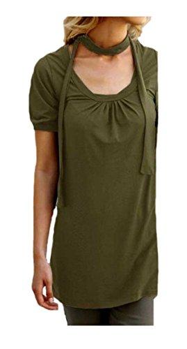Mujer de Long Camiseta para Stretch de camiseta M. Seafolly y cinturón verde oliva