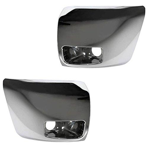 Koolzap For 07-13 Silverado 1500 Front Bumper Extension End w/Fog Lamp Left & Right SET PAIR