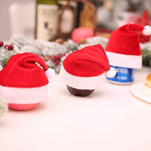 Lovewe Mini Christmas Hat,Mini Christmas Apple Wine Bottle Caps,Santa Claus Hat Table Home Xmas Gift(1/6Pc) (1Pc) by Lovewe_Christmas Decor (Image #6)