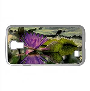 Purple Water Lily Watercolor style Cover Samsung Galaxy S4 I9500 Case (Flowers Watercolor style Cover Samsung Galaxy S4 I9500 Case)