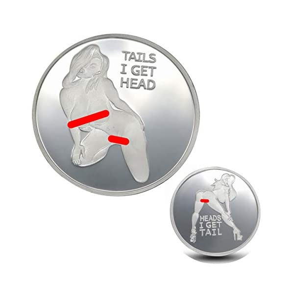 Orchidtek Sexy Stripper Pin Up Good Luck Heads Tails Challenge  Coin-Commemorative Coin Collection Arts Souvenir Gift Coins-Gift for Men