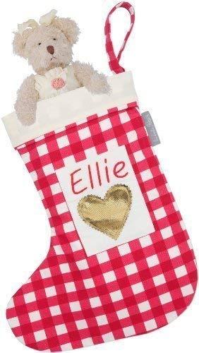 Personalizado Calcetines Navidad - Guinga Roja Diseñado, Estampado & hecho a mano en el Reino