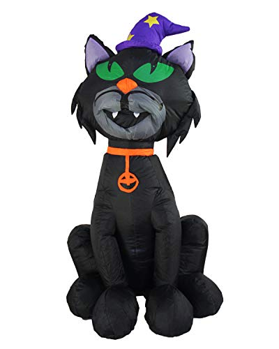 SEASONBLOW 4 Ft Halloween Inflatable Black Cat Decorations Lighted Decoration Lantern for Home Party Garden Yard Lawn Indoors -