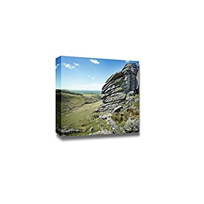 Beautiful Scenery Landscape Rugged British Terrain Landscape Dartmoor National Park - Canvas Art Wall Art - 24