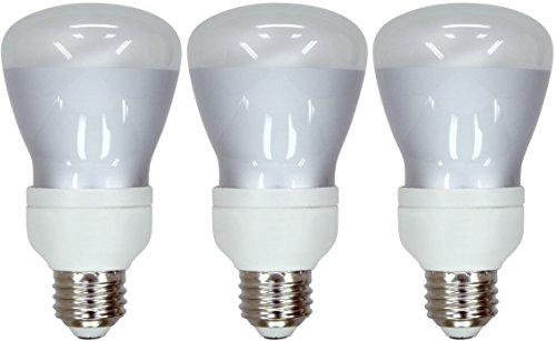 Set of 3 GE Lighting 78948 Energy Smart CFL's 11-Watt (50-watt replacement) 370-Lumen R20 Floodlight Bulb with Medium Base 50w Cfl