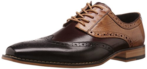 Stacy Adams Men's Tinsley Wingtip Lace-up Oxford Black/Burgundy/Tan discount browse cheap sale perfect 2015 sale online in China for sale exclusive for sale a6p1nAN