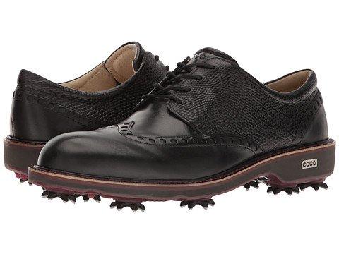 (エコー) ECCO メンズゴルフシューズ靴 Golf Lux [並行輸入品] B07F2HSJVC 45 (US Men's 11-11.5) (n/a) D - M ブラック/ブラック