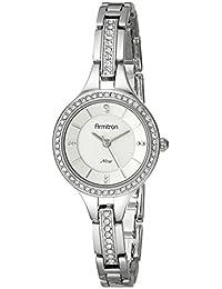 Women's 75/5237SVSV Swarovski Crystal Accented Silver-Tone Bracelet Watch