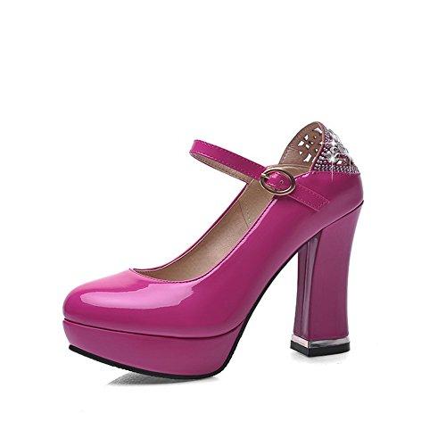 Balamasa Dames D-ring Hoge Hakken Massief Zacht Materiaal Pumps-schoenen Rosered