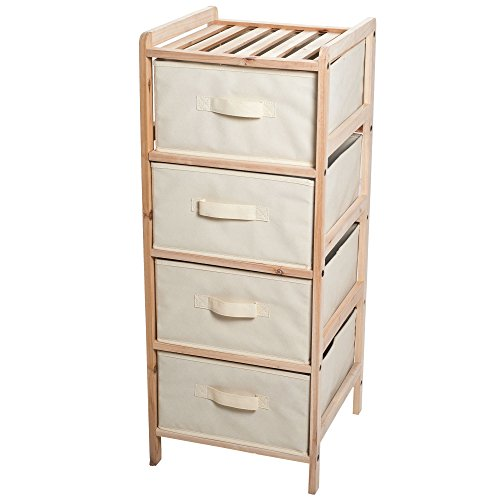 lavish-home-organization-wood-fabric-four-drawer-unit-with-shelf-top
