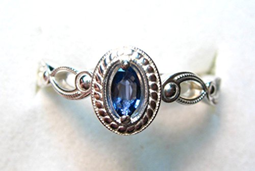 Montana Yogo Sapphire Marquise in Oval Ring Sterling Silver
