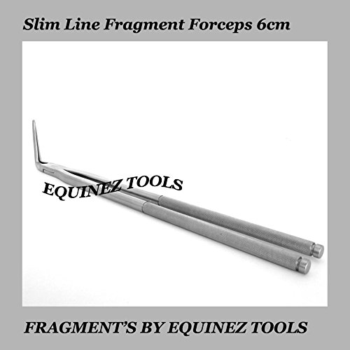 19  Equine Slim Line Fragment Forceps 6cm Pouch, Stainless Steel Dental Equine