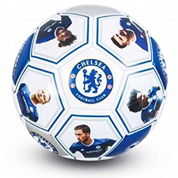 Chelsea FC jugador foto y firma balón de fútbol (tamaño 5): Amazon ...