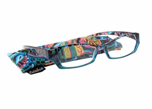Calabria 748 Bold Print Reading Glasses w/ Matching Case in