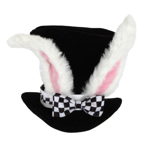 White Halloween In Cat Costume (White Rabbit Topper Adult Hat by)