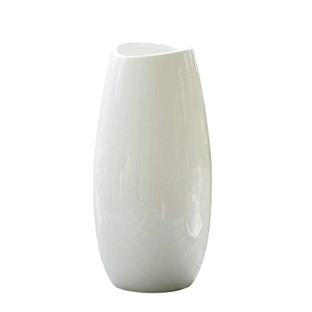シックな花瓶 装飾花瓶AXZHYZ1905005シンプルモダンフラワーアレンジメント磁器ボトル白小さなリビングルーム花瓶12×25×8センチ 写真シックな花瓶シリンダー花瓶、装飾用花瓶 B07SFHVSP9