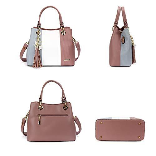 Pomelo Women's Handbag White Best Best Grey Purple Pomelo Women's qwI5aSgc