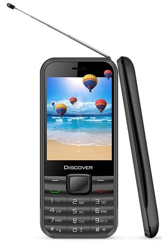 KOCASO Discover TV Cell Phone (Television Feature, Dual SIM, Analog TV Built In, Apps, MP3/MP4 Music Player, FM Radio, Flashlight, Unlocked) - Black