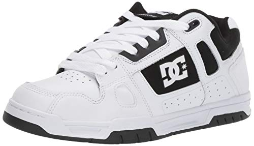 DC Men's STAG Skate Shoe, White/Thrash, 8 M ()