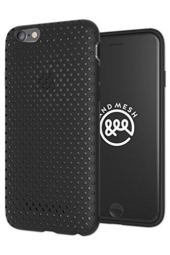 ハブ狼保証AndMesh iphone6s ケース iphone6 ケース 耐衝撃 Mesh Case メッシュケース   ブラック 黒 AMMSC661-BLK
