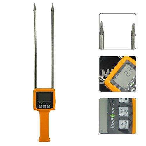 DX-101G Digital Moisture Meter handheld Portable Grain Moisture tester for corn, wheat, rice, beans, wheat flour humidity analyzer