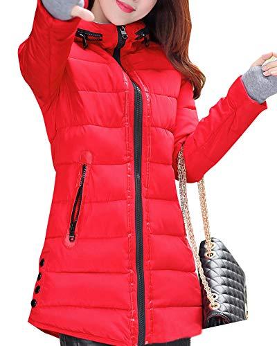 Woman Épaisse Veste Quge Rouge Down Long Chaude Manteau Down Manteau Manteaux Avec Veste FZTwv