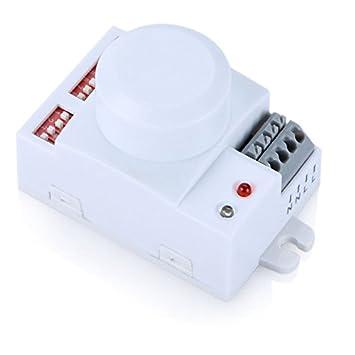 TOOGOO (R) AC 220 V Inteligente microondas sensor de movimiento detector interruptor módulo inalámbrico
