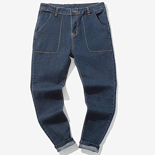 Hombre Cotton Sonnena del Wash de de Trabajo Denim de Ocasionales Larga Jeans D Pantalones Pantalones Vaqueros Jeans Vendimia la algodón Pantalones otoño rqxOFprnS