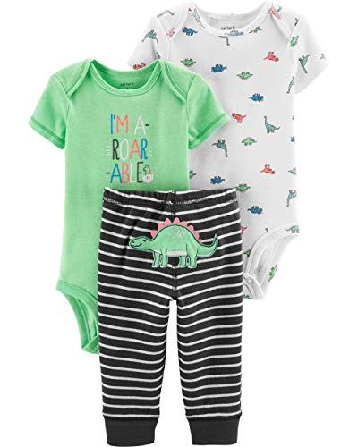 Carter's 3 Piece Little Character Set, Dinosaurs, 12 Months (Carters 3 Piece Boys)