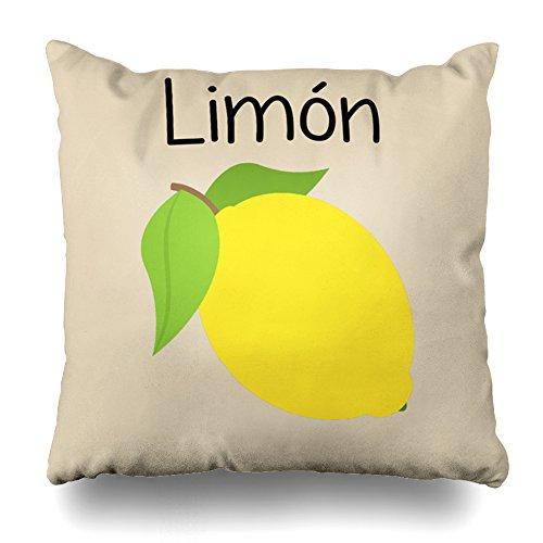ONELZ Limon Lemon Square Decorative Throw Pillow Case, Fashion Style Zippered Cushion Pillow Cover (20X20 (Limon Square)