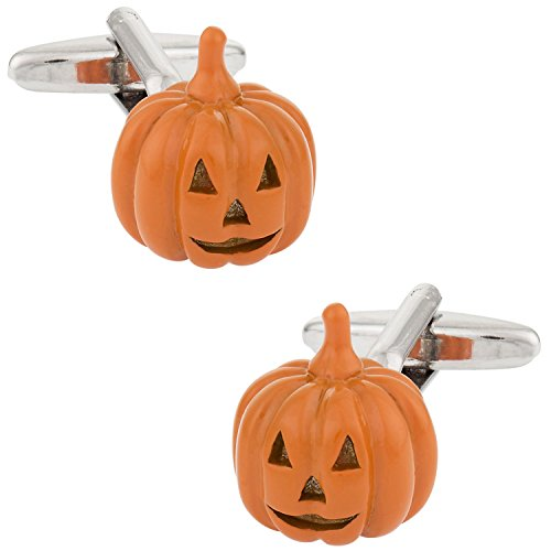 Cuff-Daddy Jack O Lantern Pumpkin Halloween Cufflinks with Presentation -