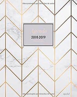 Agenda 2019 Mármol Blanco: Agenda Mensual y Semanal + ...