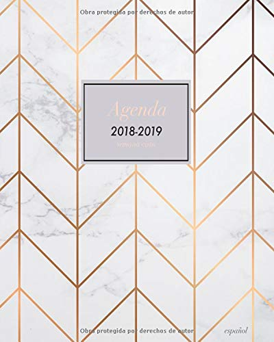 Agenda 2018 2019 Semana Vista Español: Agenda planificador ...