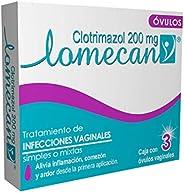 Lomecan V ÓVULOS, 3 DÍAS, Tratamiento de Infecciones Vaginales con Clotrimazol 200mg, alivia inflamación, come