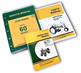 John Deere 60 Standard and Orchard Tractors Service Manual Parts Catalog Operators Set for Troubleshooting Overhaul Instructions Operating Maintenance and Adjustments also Exploded Views for Assembly