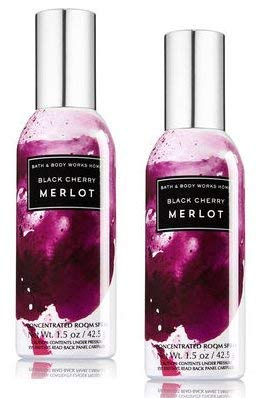 Bath and Body Works 2 Pack Concentrated Room Spray Black Cherry Merlot 1.50 Oz.