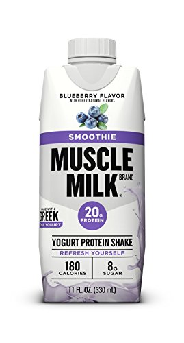 Muscle Milk Smoothie Protein Yogurt Shake, Blueberry, 20g Protein, 11 fl FL OZ, 12 Count