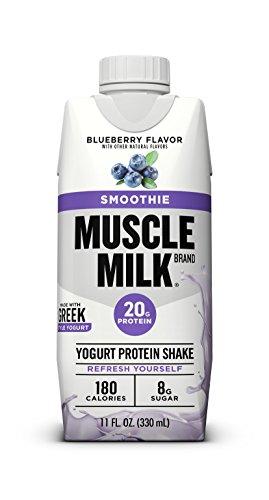 (Muscle Milk Smoothie Protein Yogurt Shake, Blueberry, 20g Protein, 11 fl FL OZ, 12 Count)